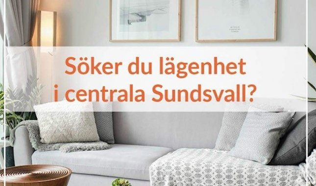 Söker Du boende i centrala Sundsvall